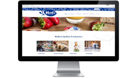 Hero Foodservice website on a iMac
